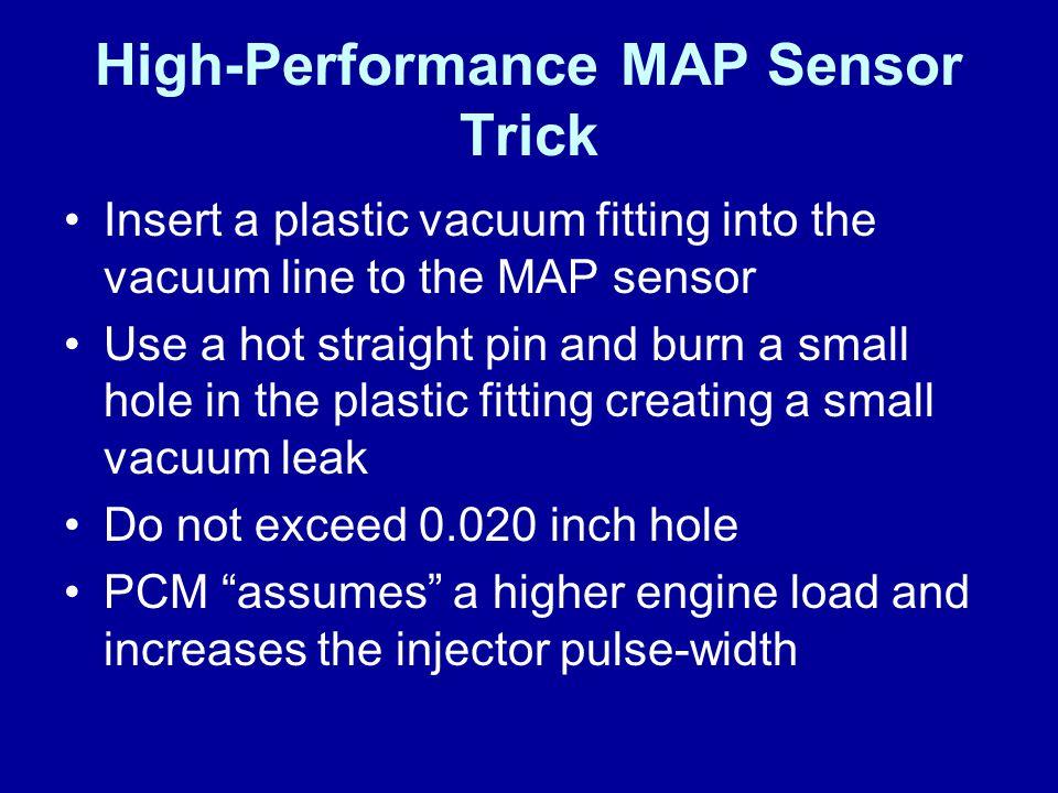 High-Performance MAP Sensor Trick