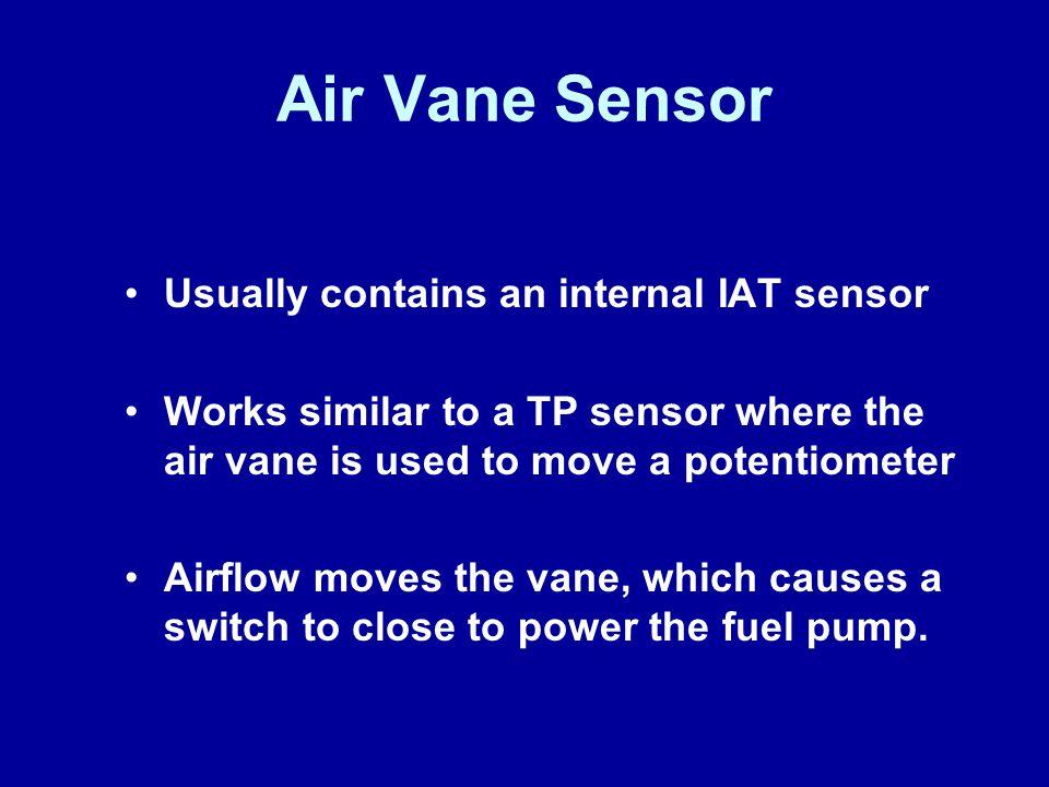Air Vane Sensor Usually contains an internal IAT sensor