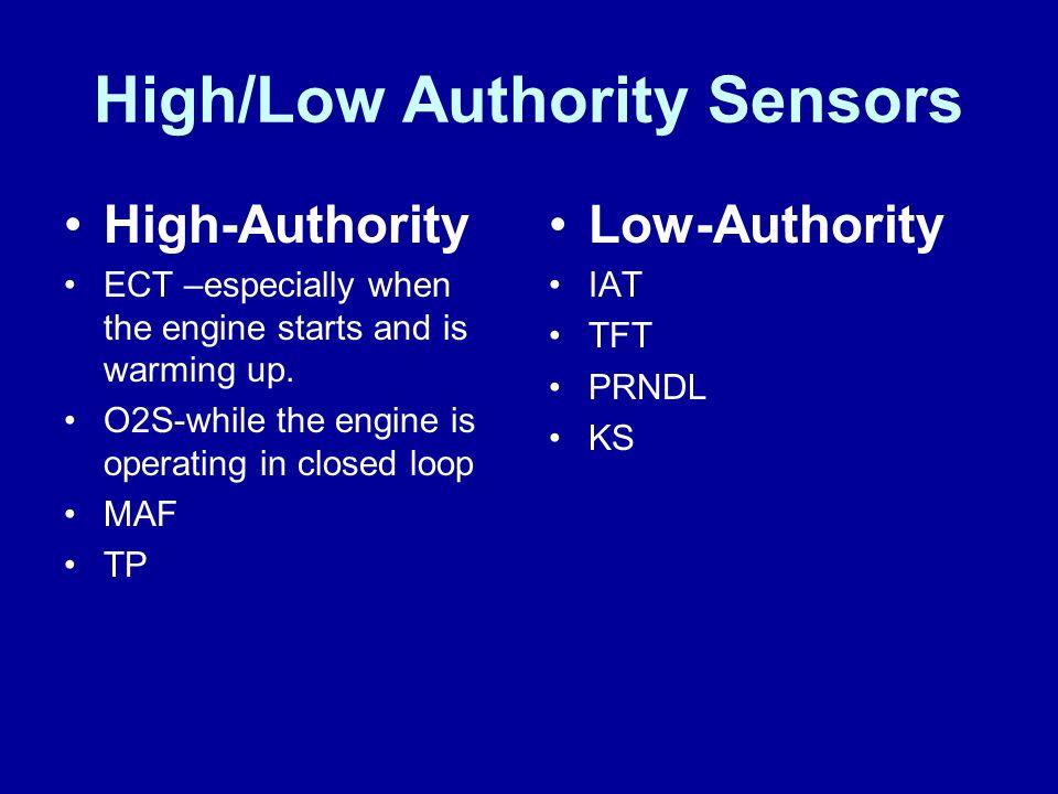 High/Low Authority Sensors
