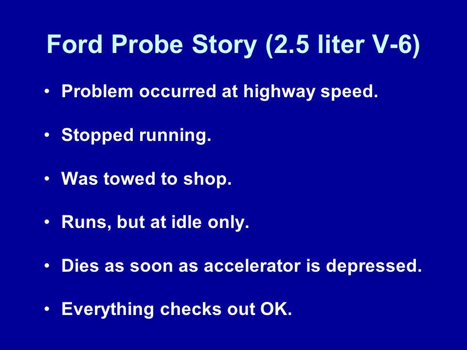 Ford Probe Story (2.5 liter V-6)