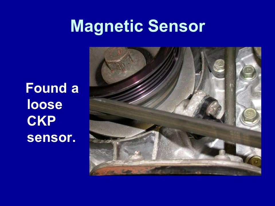 Magnetic Sensor Found a loose CKP sensor. James Halderman