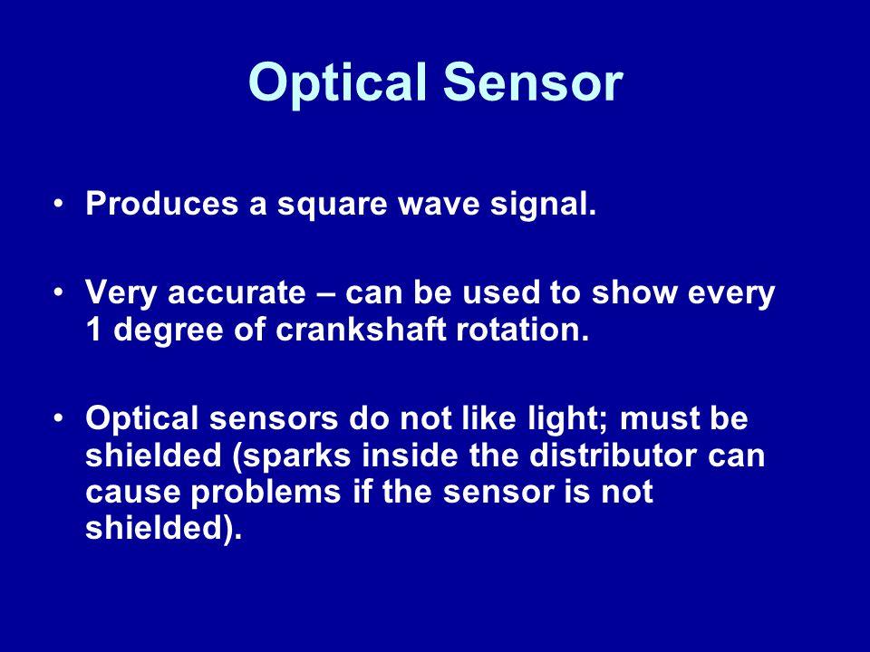 Optical Sensor Produces a square wave signal.
