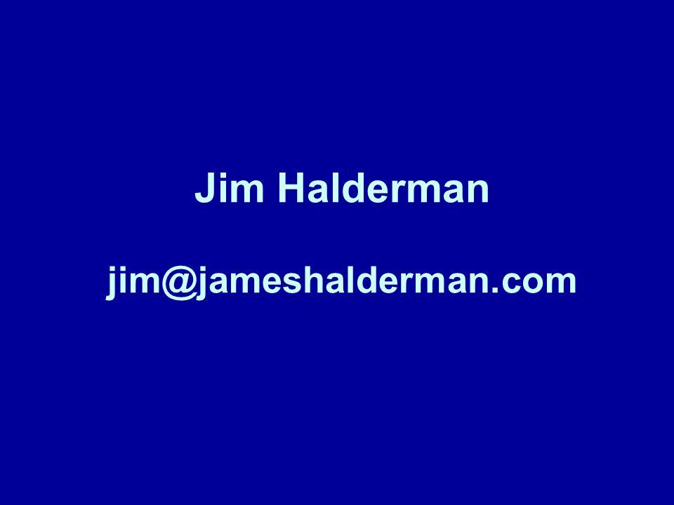Jim Halderman jim@jameshalderman.com