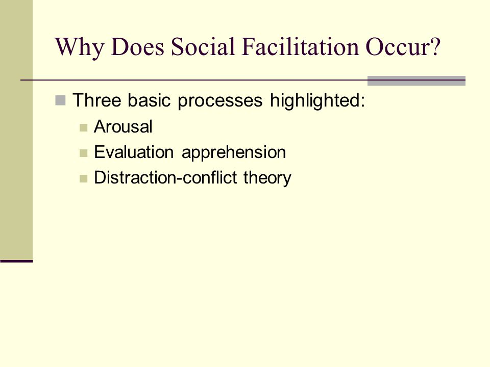 Why Does Social Facilitation Occur