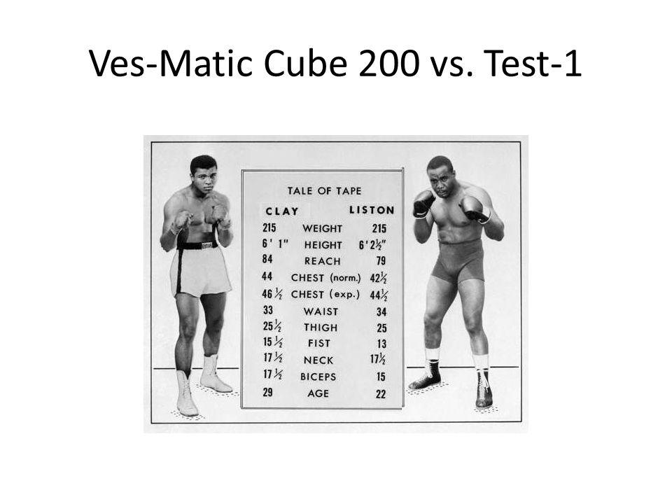 Ves-Matic Cube 200 vs. Test-1