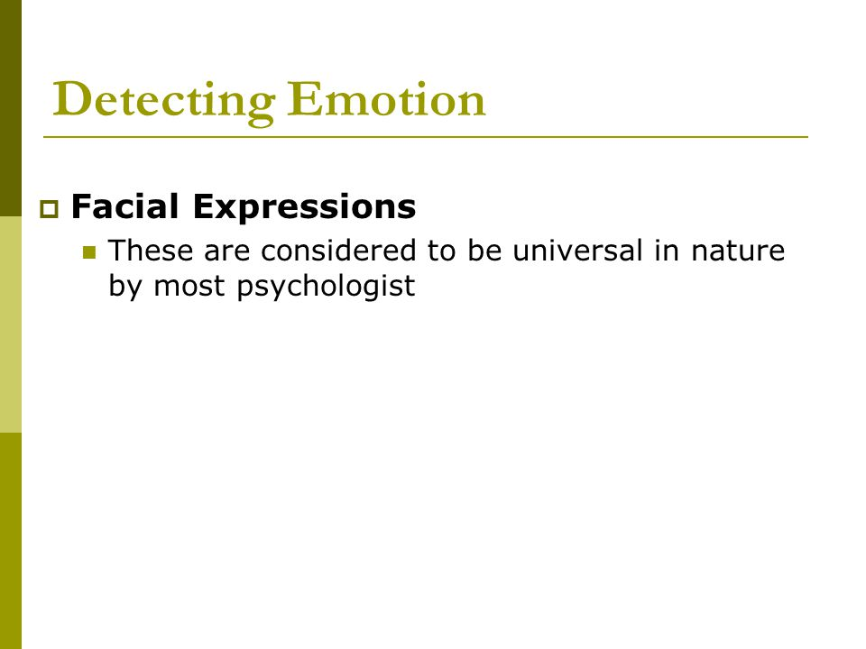 Detecting Emotion Facial Expressions