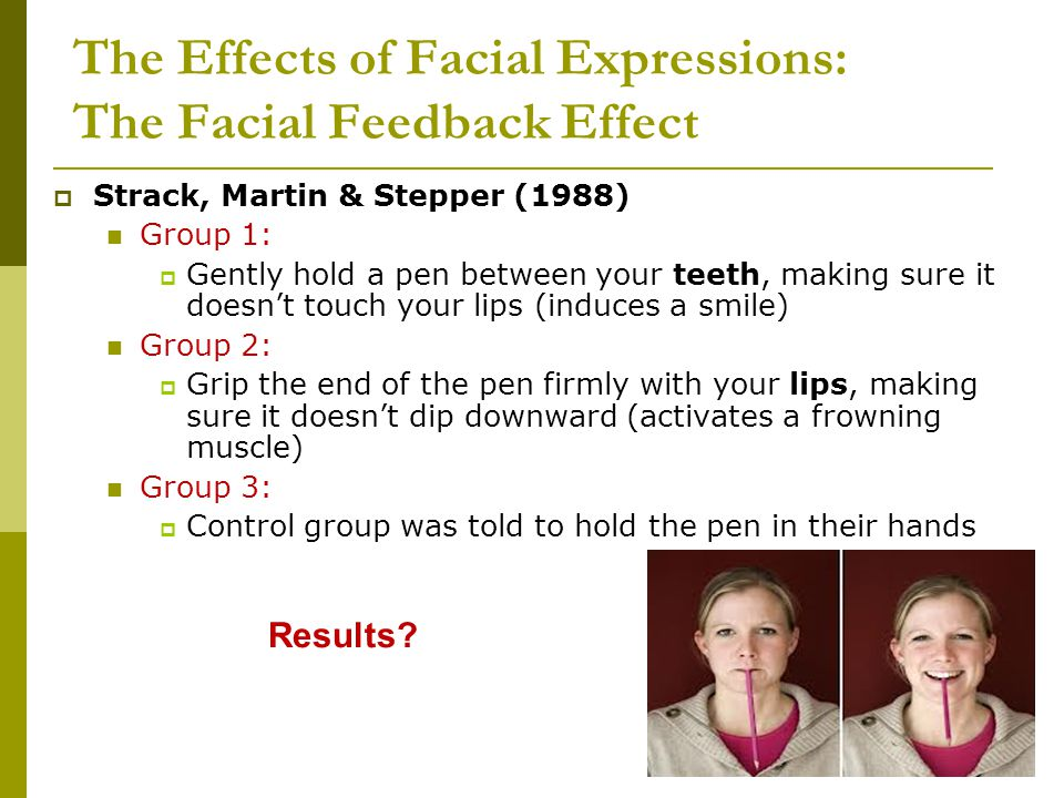 The Effects of Facial Expressions: The Facial Feedback Effect