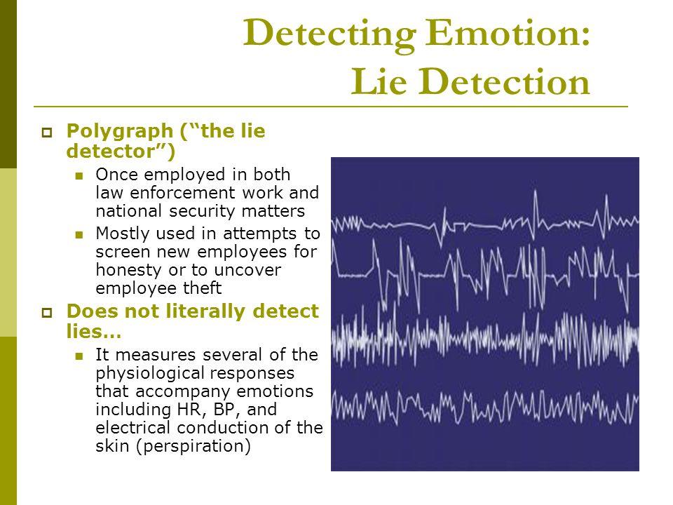 Detecting Emotion: Lie Detection