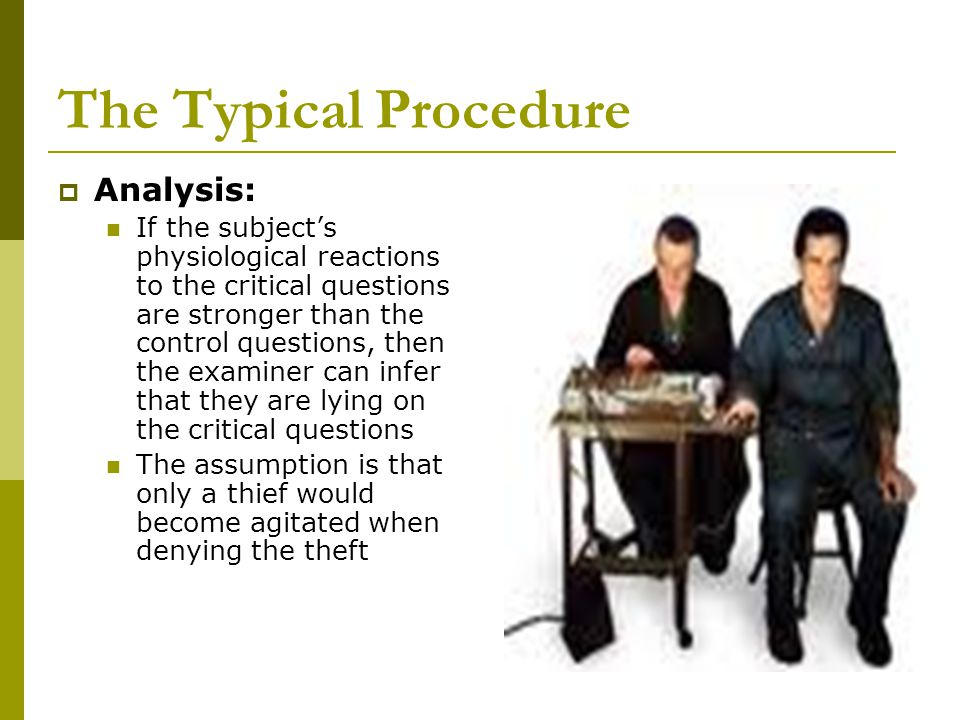 The Typical Procedure Analysis: