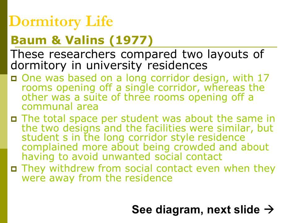 Dormitory Life Baum & Valins (1977)