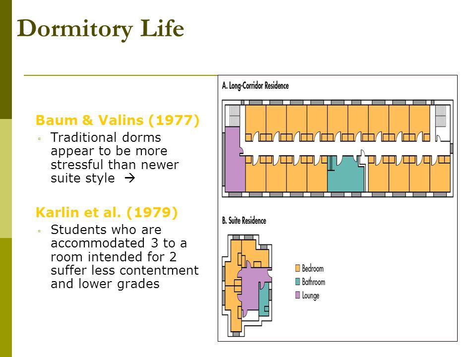 Dormitory Life Baum & Valins (1977) Karlin et al. (1979)