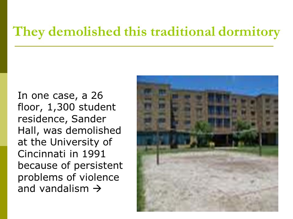 They demolished this traditional dormitory