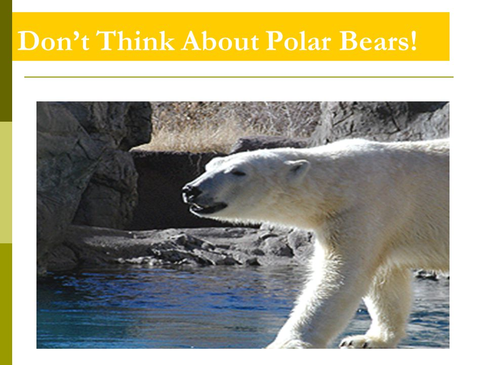 Don't Think About Polar Bears!