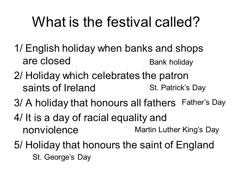 What is the festival called
