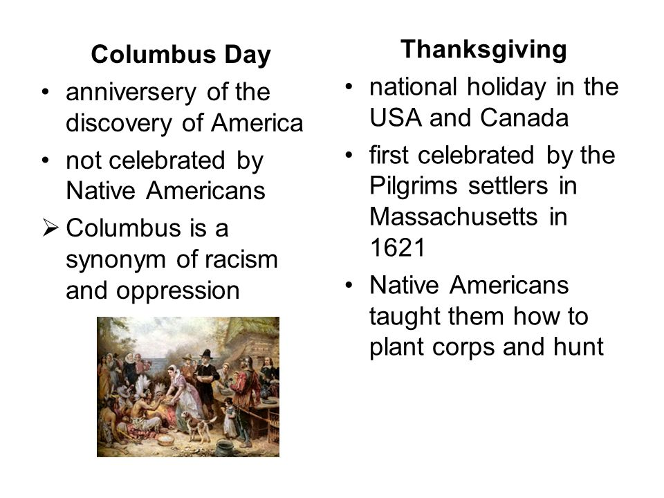 Thanksgiving national holiday in the USA and Canada. first celebrated by the Pilgrims settlers in Massachusetts in 1621.