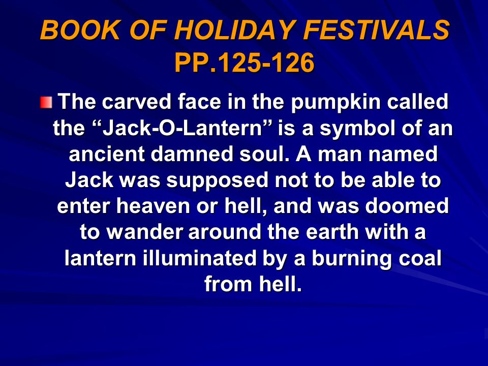 BOOK OF HOLIDAY FESTIVALS PP.125-126
