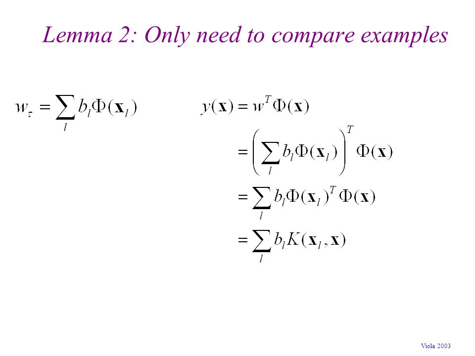 Lemma 2: Only need to compare examples