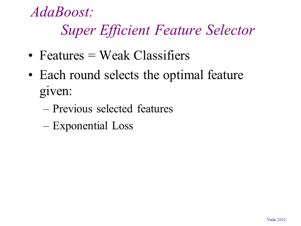 AdaBoost: Super Efficient Feature Selector