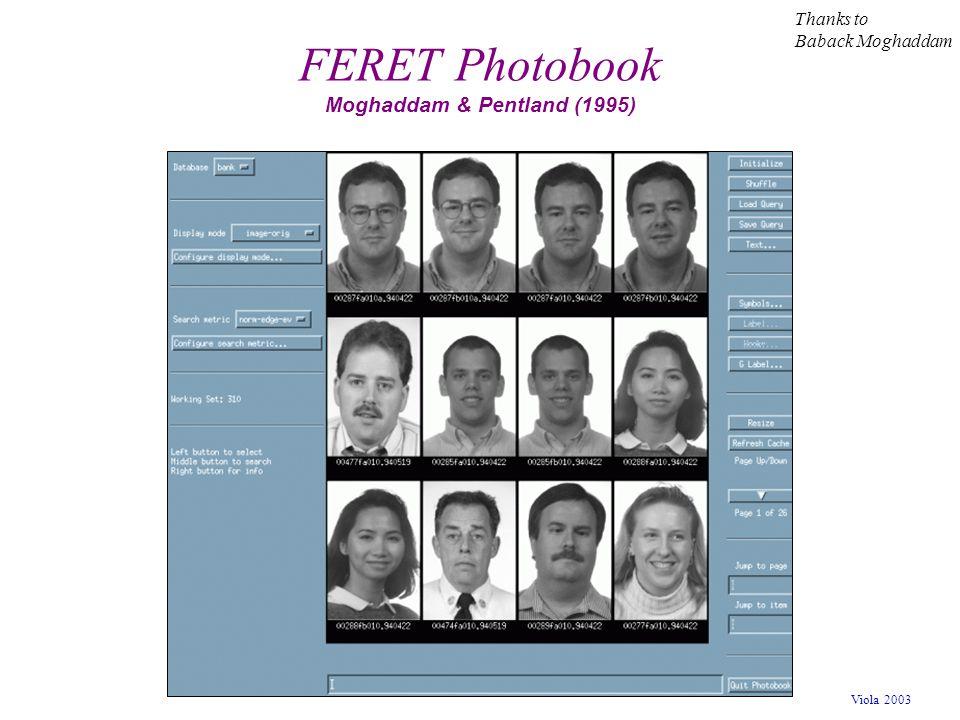 FERET Photobook Moghaddam & Pentland (1995)