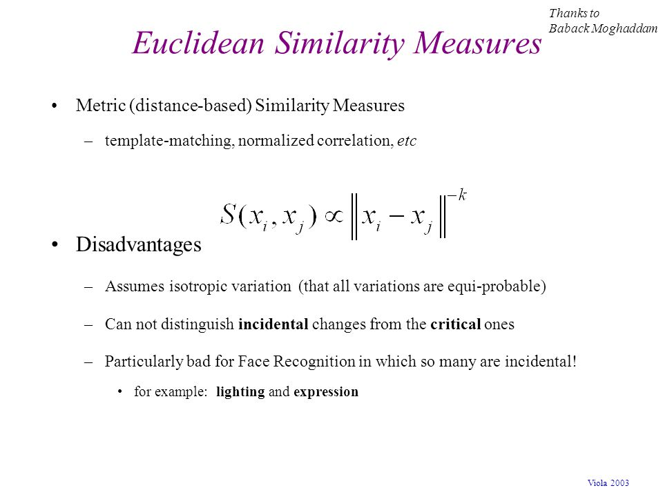 Euclidean Similarity Measures