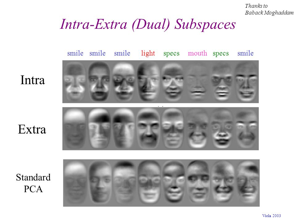 Intra-Extra (Dual) Subspaces
