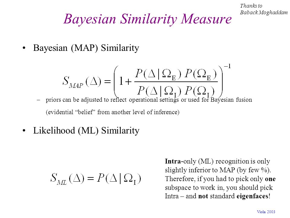 Bayesian Similarity Measure