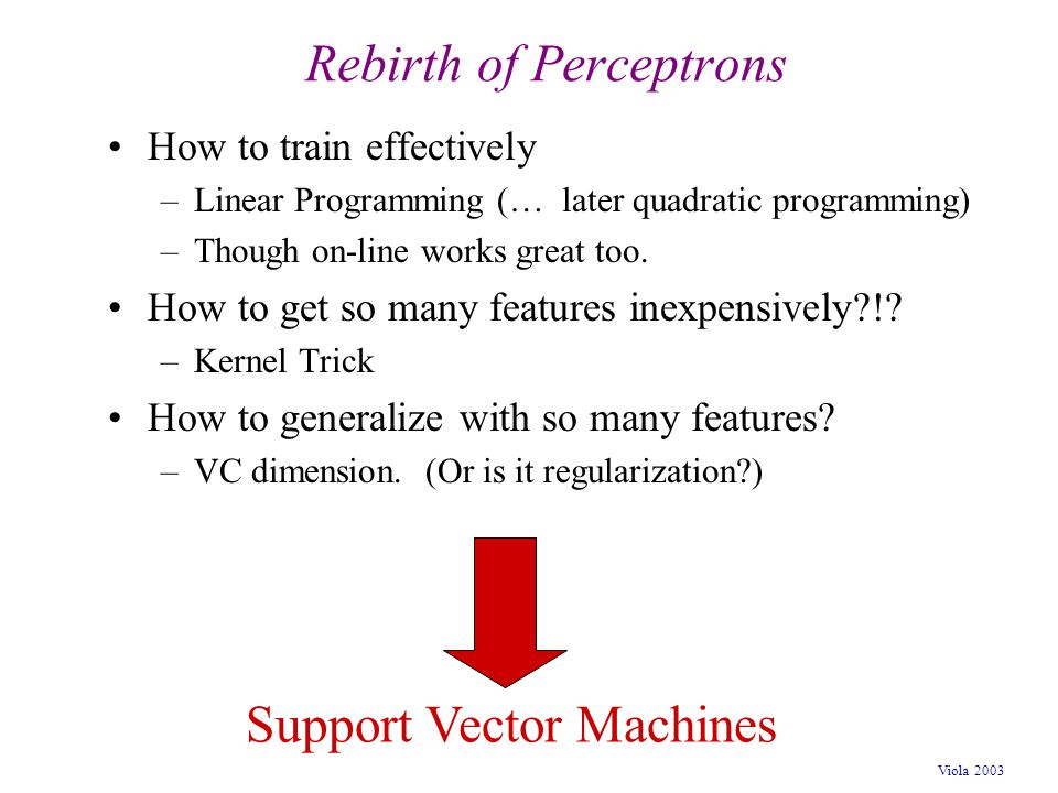 Rebirth of Perceptrons