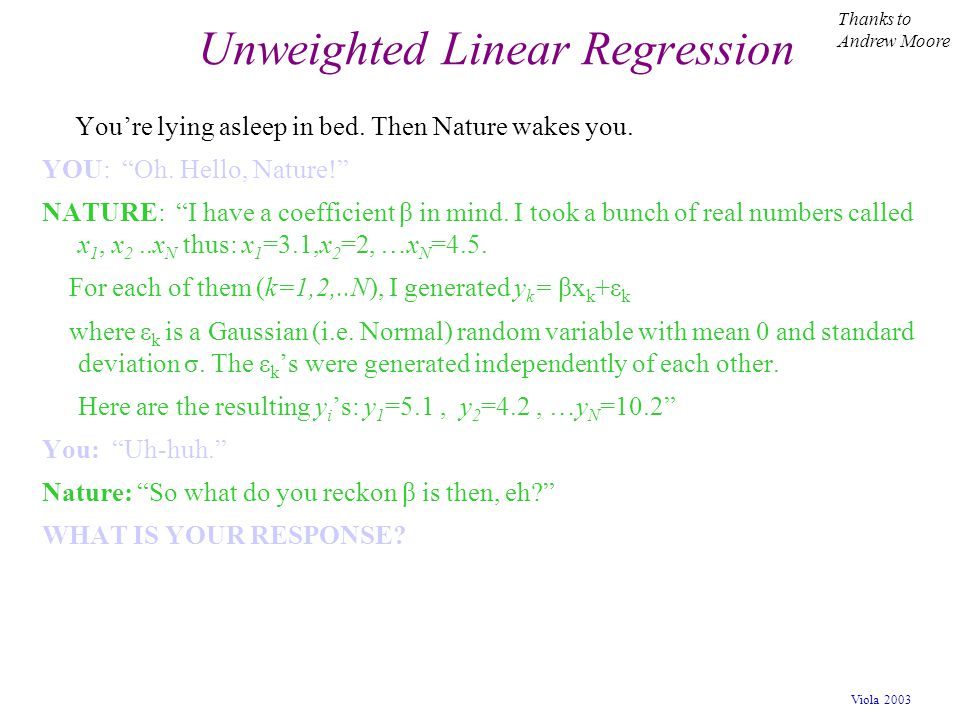 Unweighted Linear Regression