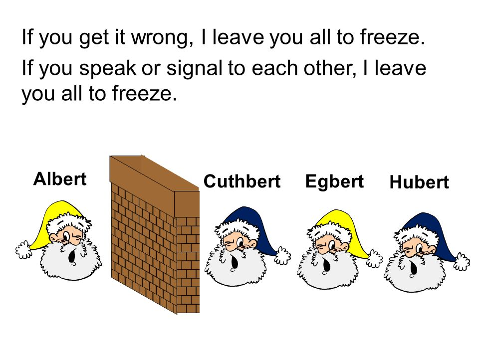 If you get it wrong, I leave you all to freeze.