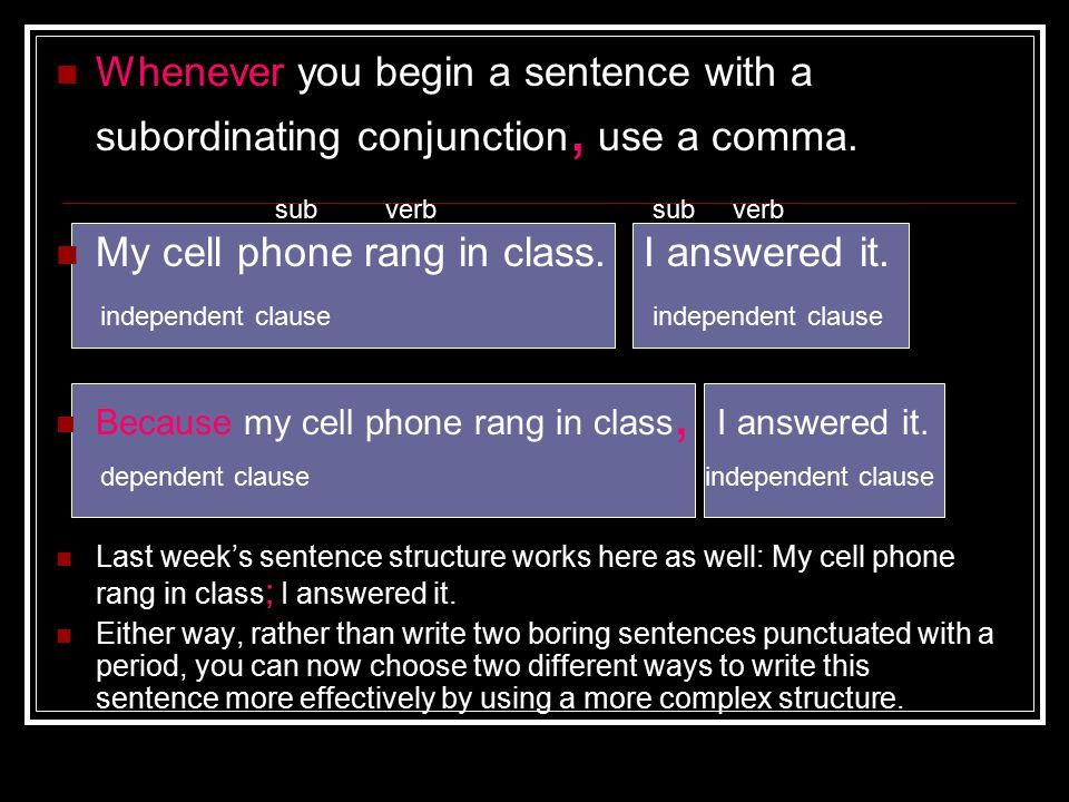 My cell phone rang in class. I answered it.