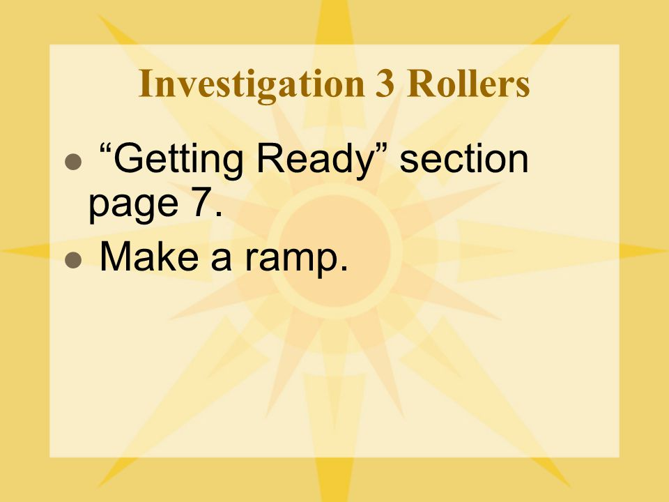 Investigation 3 Rollers