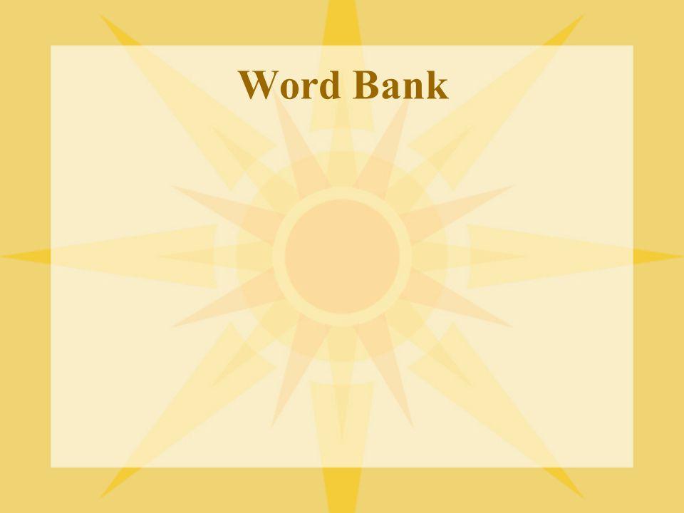 Word Bank Add: sphere, runway, loop, spiral