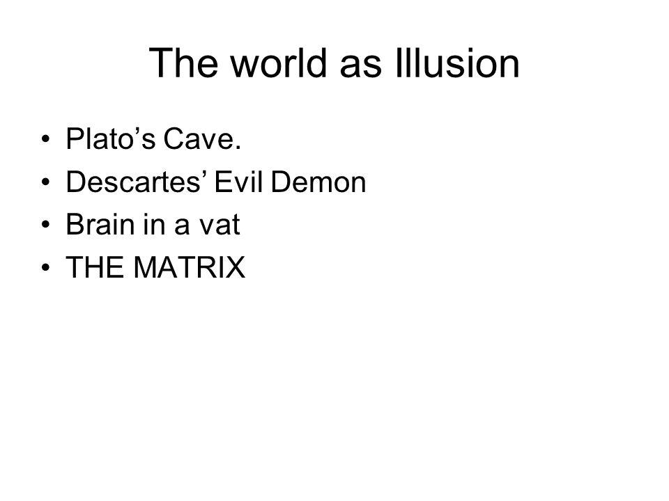 The world as Illusion Plato's Cave. Descartes' Evil Demon
