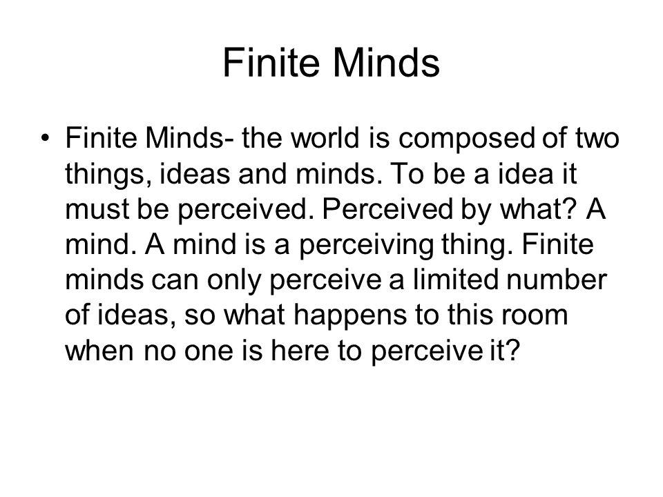 Finite Minds