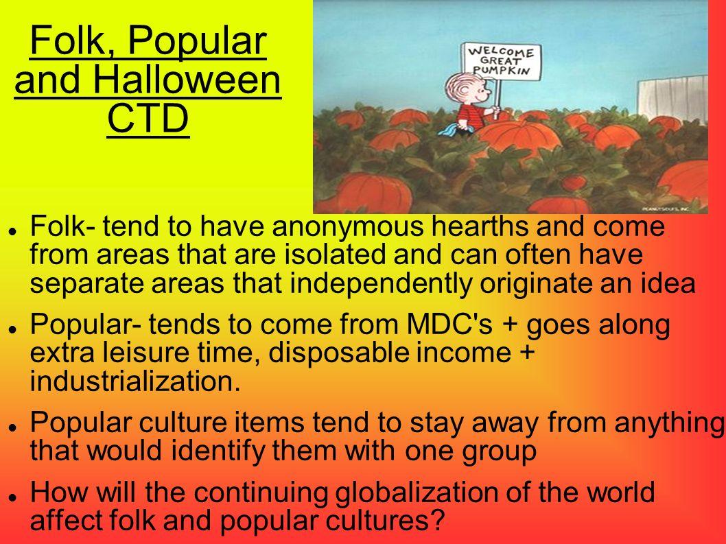 Folk, Popular and Halloween CTD