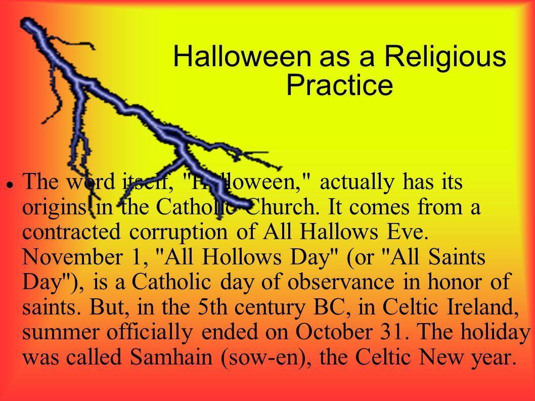 Halloween as a Religious Practice