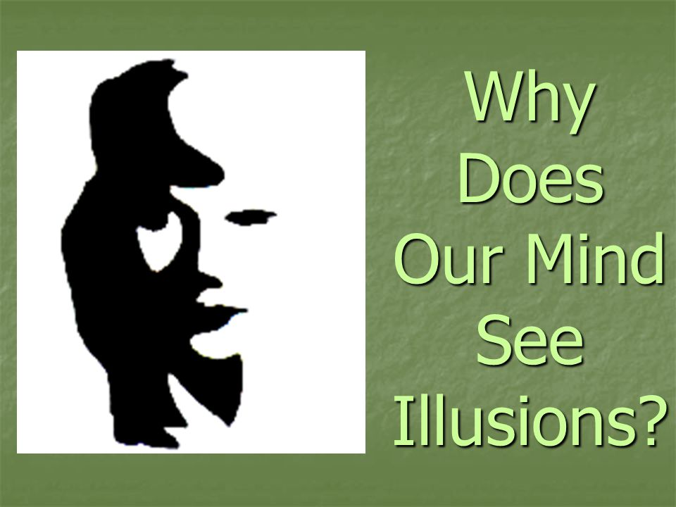 Why Does Our Mind See Illusions
