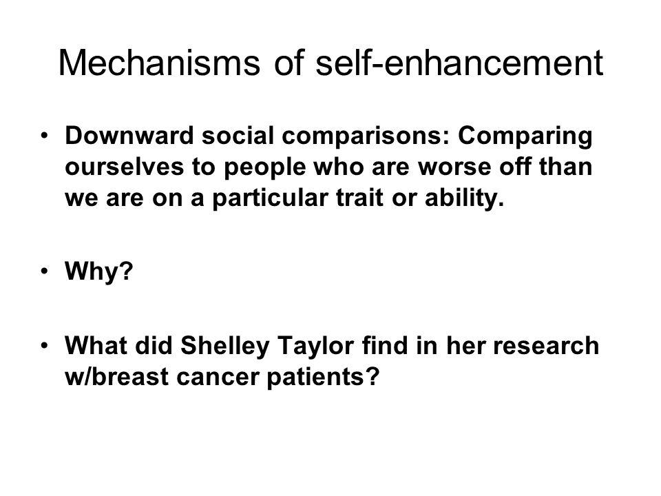 Mechanisms of self-enhancement