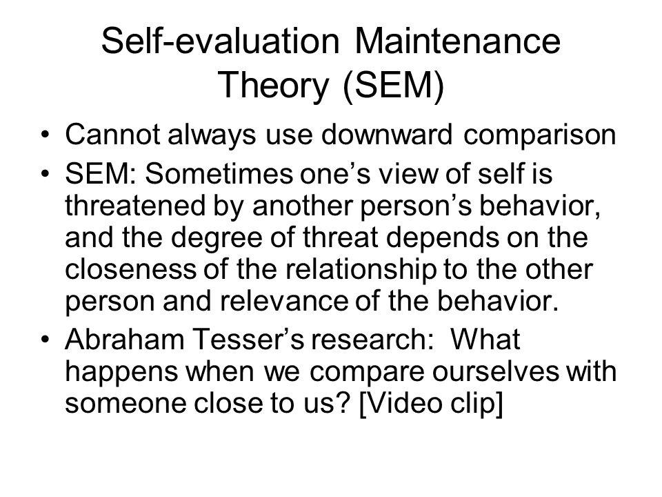 Self-evaluation Maintenance Theory (SEM)