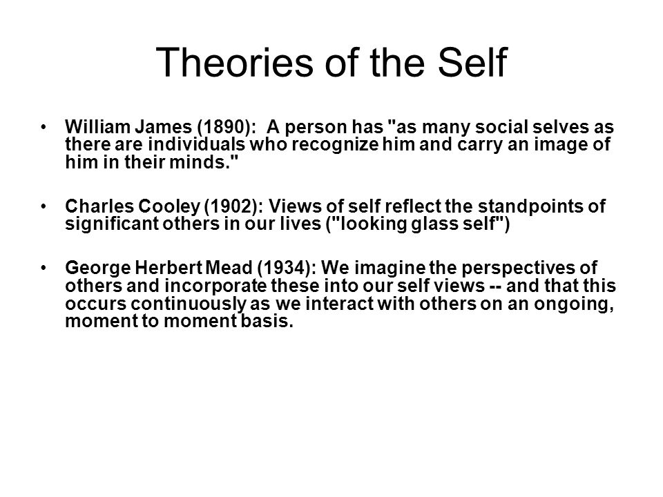 Theories of the Self