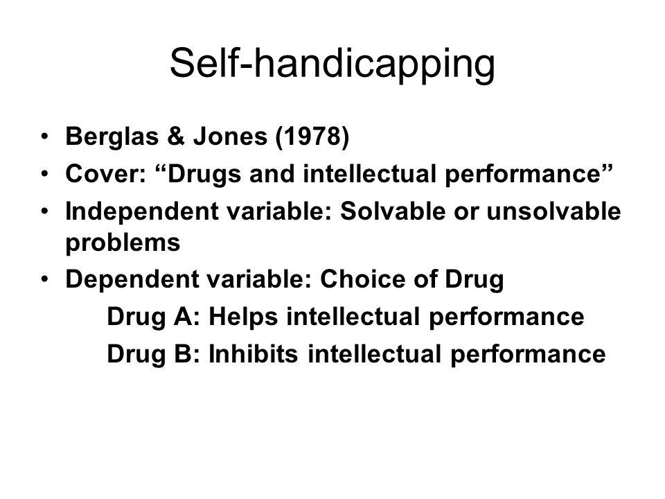 Self-handicapping Berglas & Jones (1978)