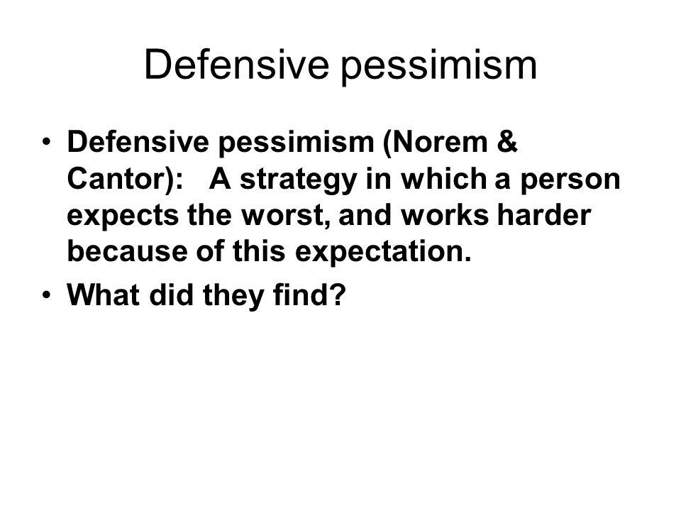 Defensive pessimism