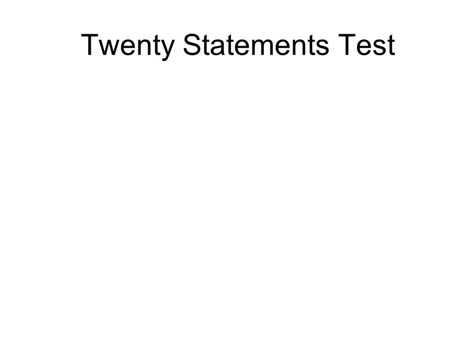 Twenty Statements Test