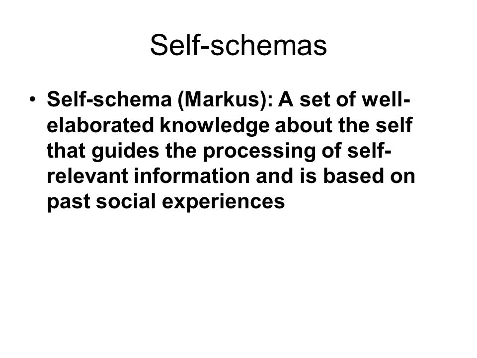 Self-schemas