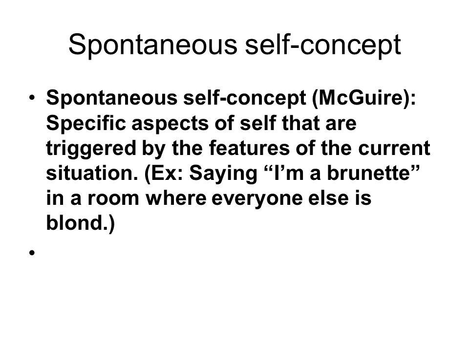 Spontaneous self-concept