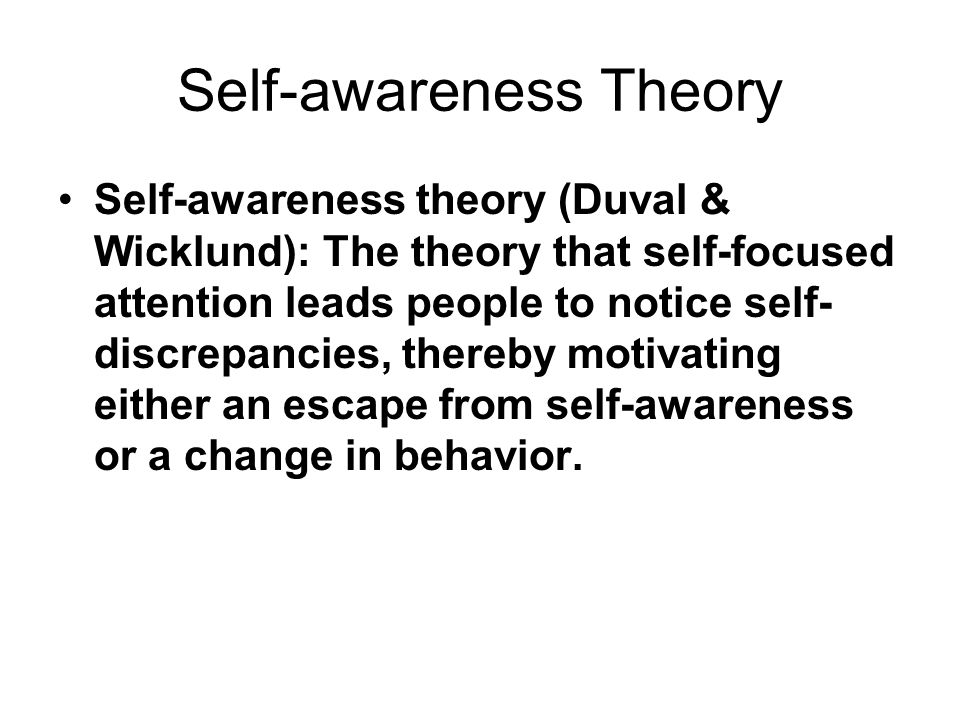 Self-awareness Theory