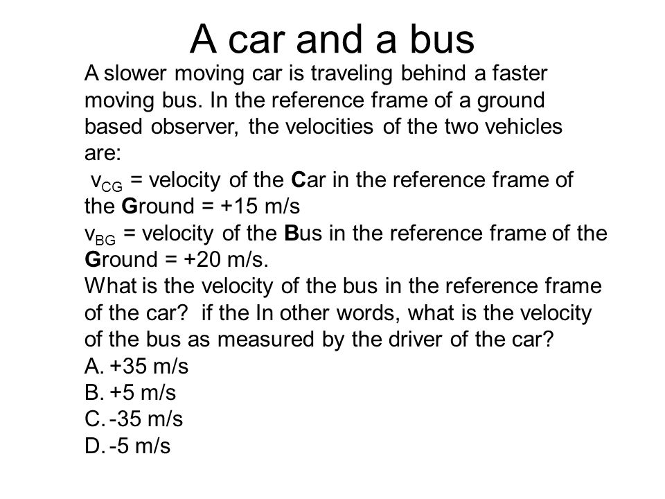 A car and a bus
