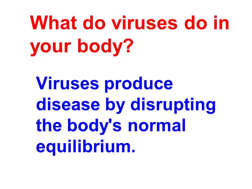 What do viruses do in your body