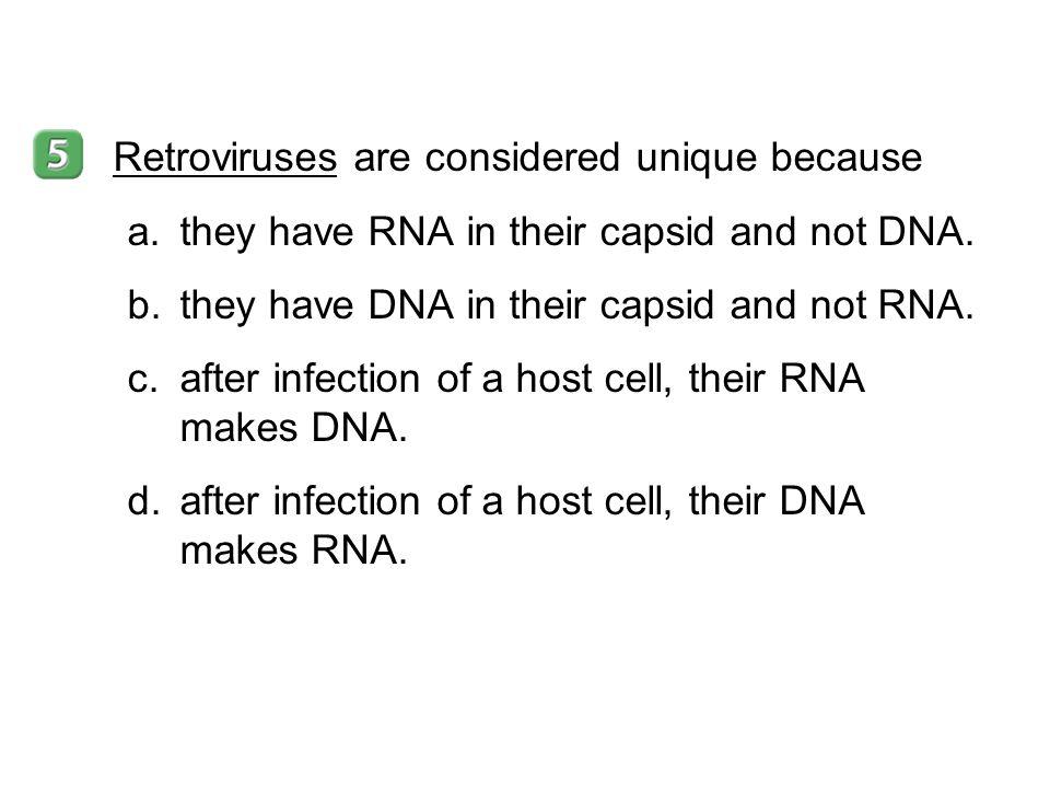 Retroviruses are considered unique because