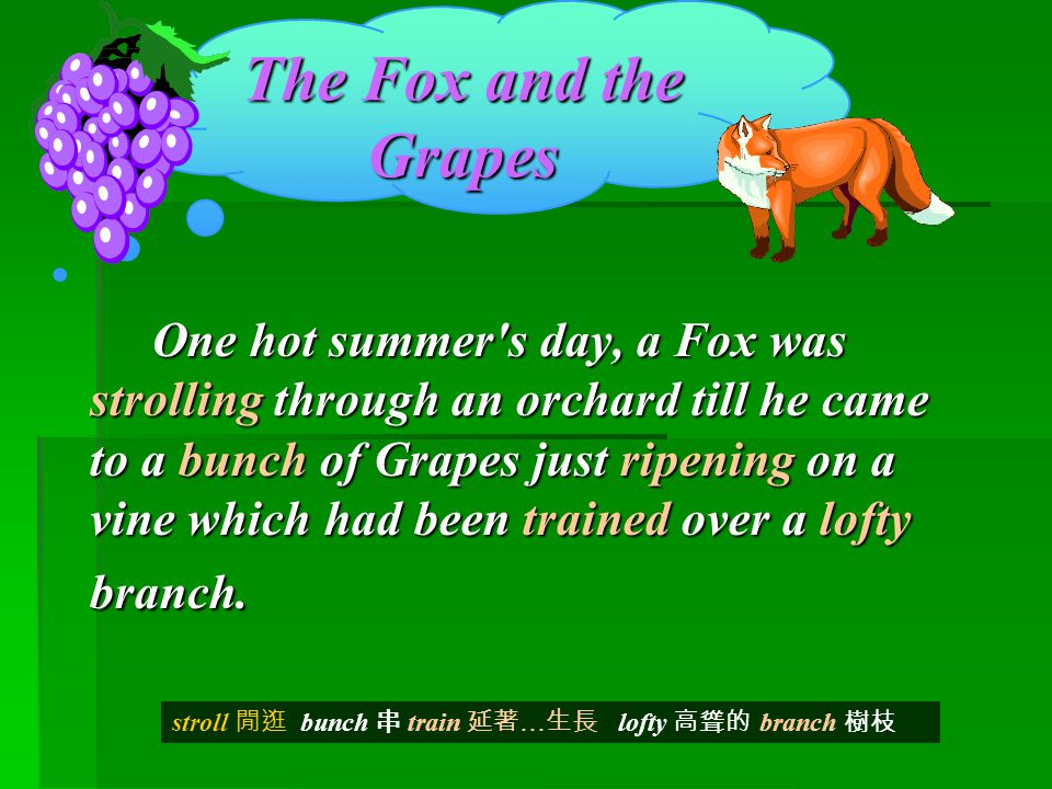 fox & the grapes story